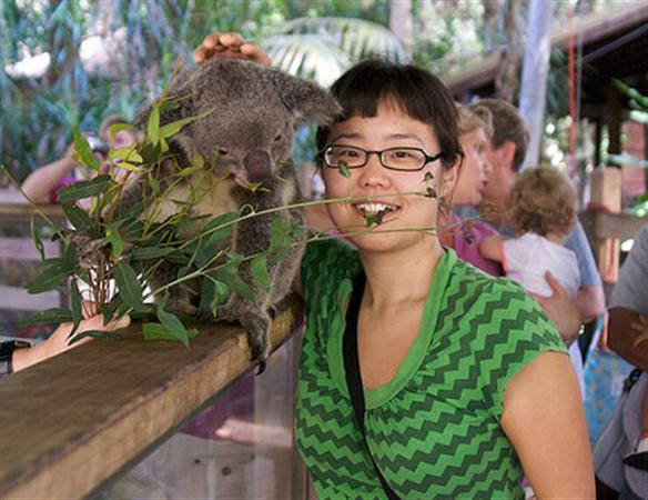 An Australian Visitor and a Koala Picture.